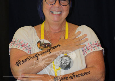 """#smilingthroughtears / #loveisforever"""